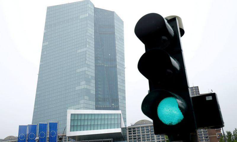 """ECB būstinė Frankfurte.  Ralph Orlowski (""""Reuters"""" / """"Scanpix"""") nuotr."""