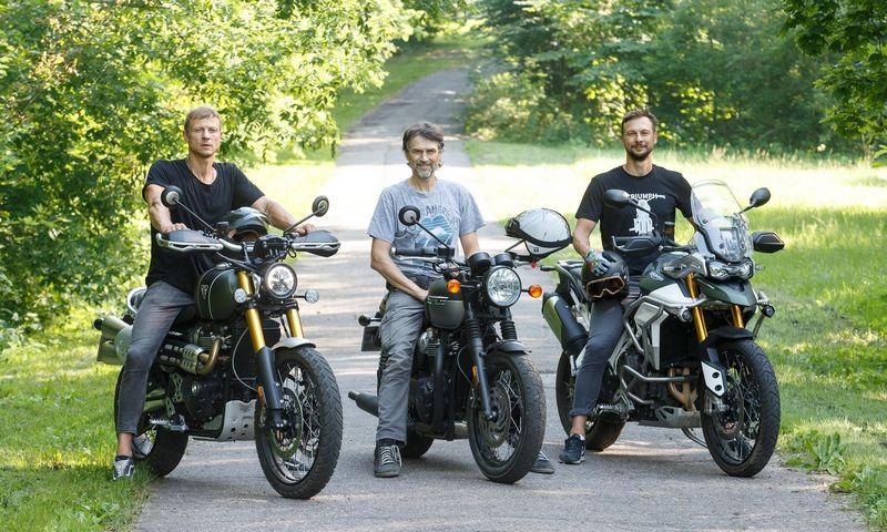 Nuotraukoje iš kairės – Jonas, Arvydas ir Petras Skernevičiai. Juditos Grigelytės (VŽ) nuotr.