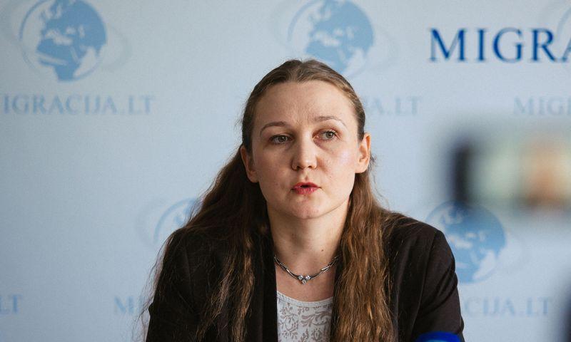 "Migracijos departamento direktorė Evelina Gudzinskaitė. Irmanto Gelūno (""15min.lt""/""Scanpix"") nuotr."