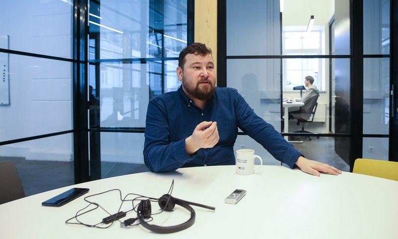 """Algirdas Stonys, programinės įrangos išmaniesiems įrenginiams kūrimo UAB """"Telesoftas"""" direktorius. Vladimiro Ivanovo (VŽ) nuotr."""