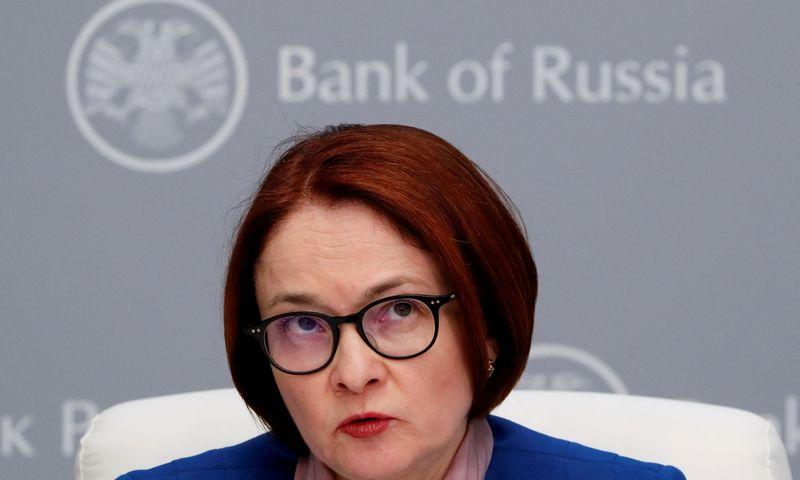 """Elvyra Nabiulina, Rusijos centrinio banko vadovė. Šamilio Žumatovo (""""Reuters"""" / """"Scanpix"""") nuotr."""