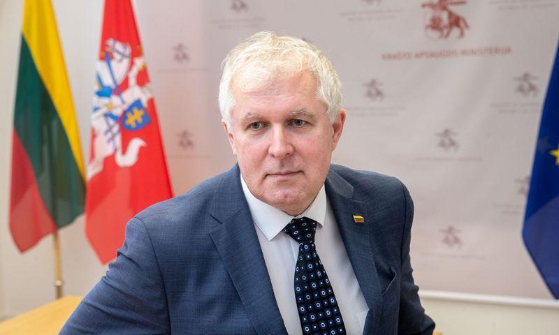 Arvydas Anušauskas, krašto apsaugos ministras. Juditos Grigelytės (VŽ) nuotr.