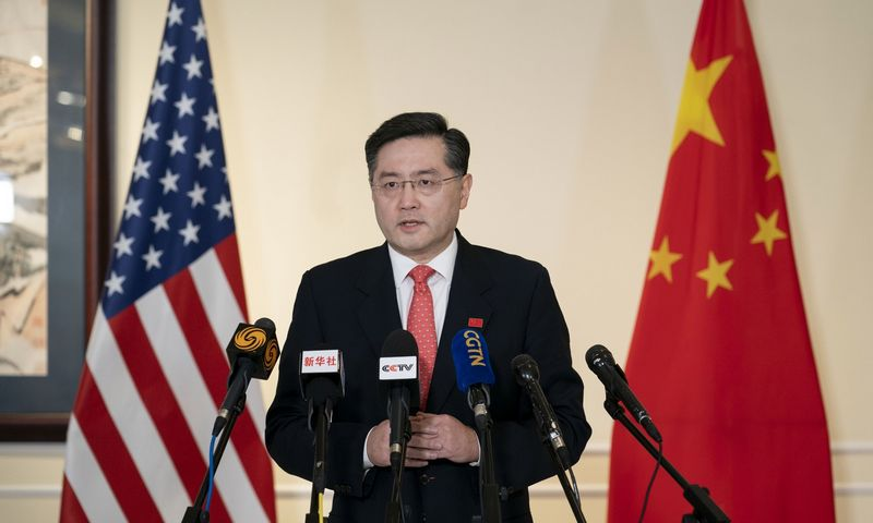 Qin Gangas, Kinijos ambasadorius Vašingtone. Liu Jie (Xinhua/Zuma Press/Scanpix) nuotr.