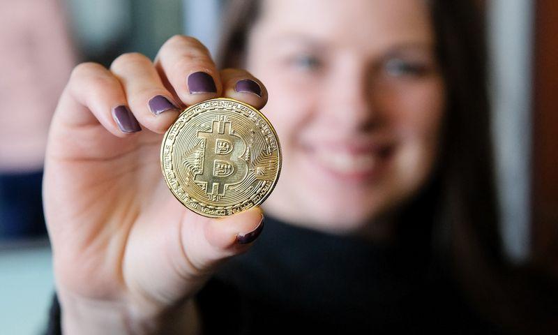 Suvenyras, bitkoino moneta. Vladimiro Ivanovo (VŽ) nuotr.