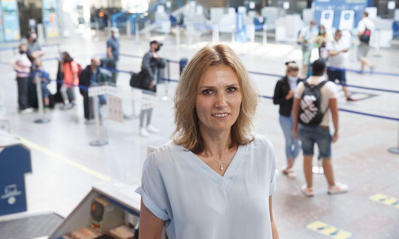 Laura Joffė, Lietuvos oro uostų Finansų ir administravimo departamento vadovė. Juditos Grigelytės (VŽ) nuotr.