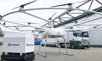 """""""Volocopter"""" ir """"Schenker"""" baigė testuoti krovininį droną"""