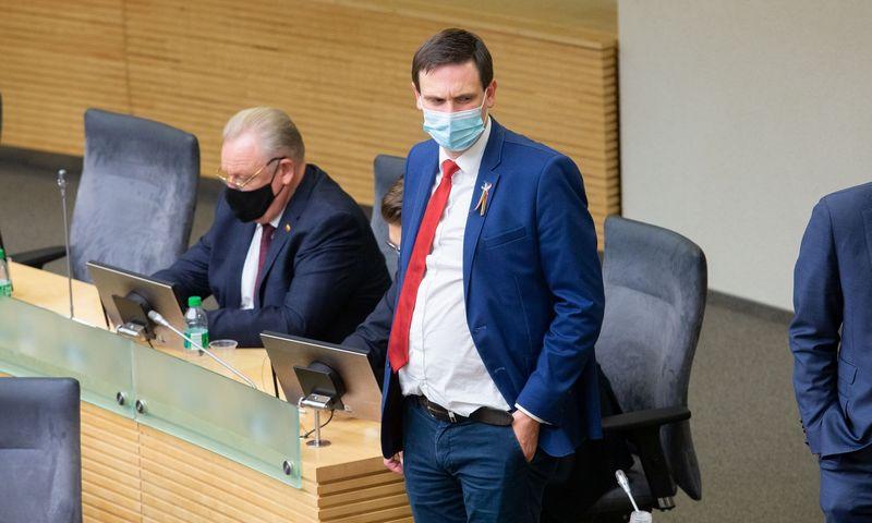 Seimo 2020-2024 m. kadencijos pirmasis posėdis. Juditos Grigelytės (VŽ) nuotr.