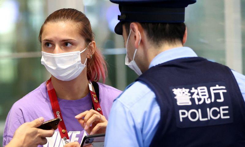 "Baltarusijos sprinterė Kryscina Cimanouskaja. Issei Kato (""Reuters"" / ""Scanpix"") nuotr."