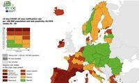 Europos koronaviruso žemėlapyje Lietuvalieka geltona