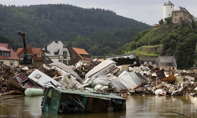 "Potvynis Vokietojoje, 2021 m. liepa. Wolfgang Rattay (""Reurers""/ ""Scanpix"") nuotr."