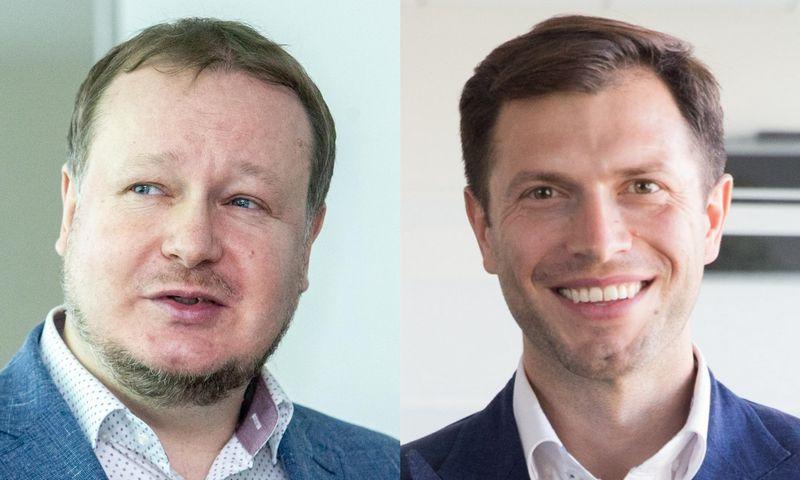 """Saulius Vagonis, UAB """"Ober–Haus"""" vertinimo ir rinkos tyrimų departamento vadovas, Andrius Švolka, UAB """"Newsec Advisers LT"""" investicinių sandorių grupės vadovas Baltijos šalyse. VŽ koliažas."""
