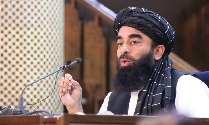 """Talibano atstovas spaudai Zabihullah Mujahid. (""""Xinhua"""" / """"Scanpix"""") nuotr."""