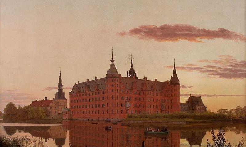 """Christen Kobke. """"Frederiksborg Slot set fra Jægerbakken"""", 1835. """"wikimedia.org"""" nuotr."""