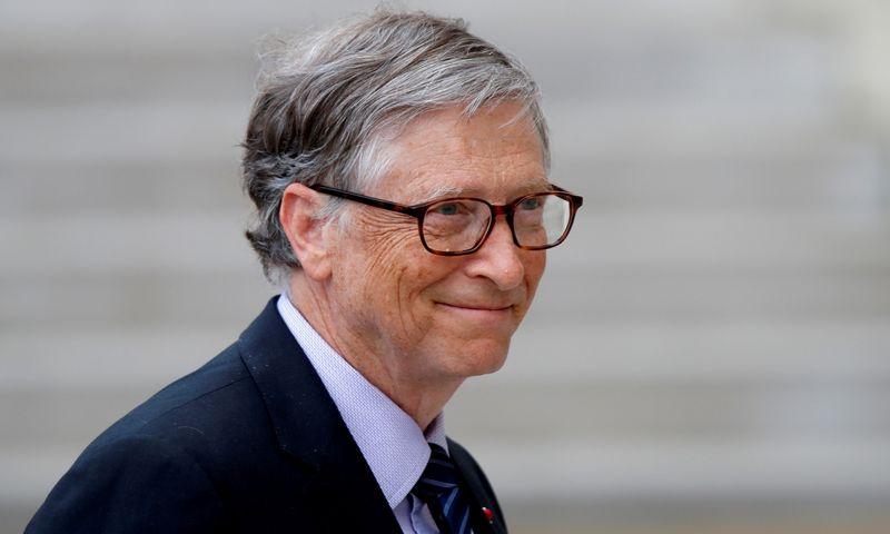 """Billas Gatesas, investuotojas, filantropas, """"Microsoft"""" įkūrėjas. Charles Platiau (""""Reuters"""" / """"Scanpix"""") nuotr."""