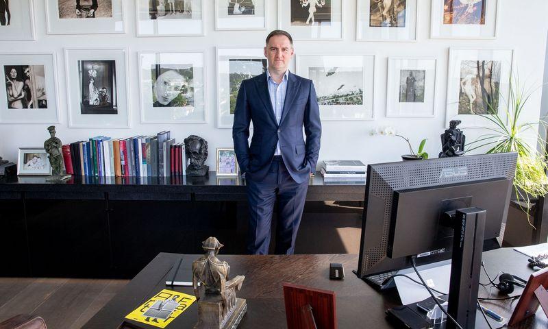 """Vilius Kavaliauskas, integruotų verslo paslaugų tiekimo grupės """"Lewben"""" vadovas, meno mecenatas, """"Equite"""" steigėjas ir generalinis direktorius. Juditos Grigelytės (VŽ) nuotr."""
