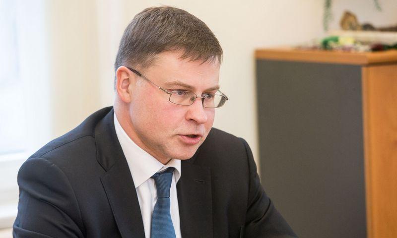 Valdis Dombrovskis, Europos Komisijos vicepirmininkas, atsakingas už euro ir socialinio dialogo klausimus. Juditos Grigelytės (VŽ) nuotr.