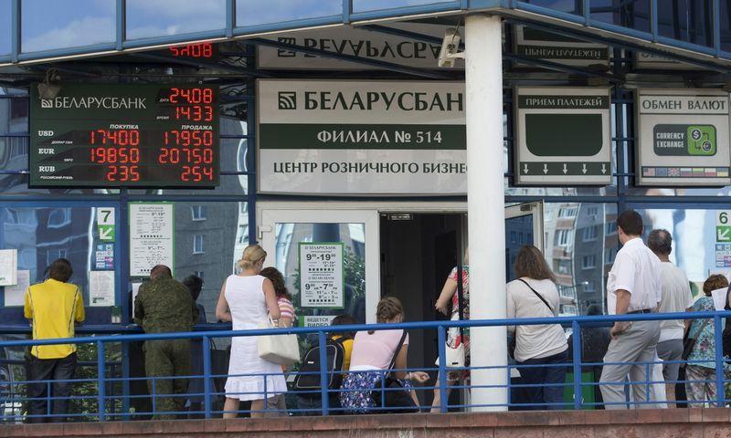 """Belarusbank"" padalinys Minske. Vasilio Fedosenko/""Reuters""/""Scanpix"" nuotr."