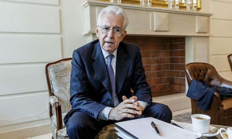 Mario Monti, buvęs Italijos premjeras.  Vladimiro Ivanovo (VŽ) nuotr.