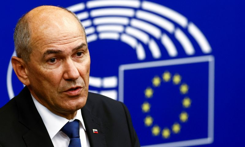 "Slovėnijos ministras pirmininkas Janezas Janša. Christiano Hartmanno (""Reuters"" / ""Scanpix"") nuotr."