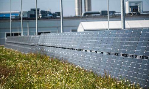 """Orion Global PET"" saulės jėgainę įrengė ant tvoros"
