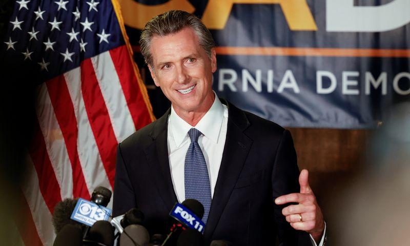 """Kalifornijos gubernatorius Gavinas Newsomas. Fred Graves (""""Reuters""""/""""Scanpix"""") nuotr."""