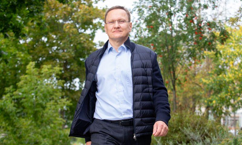 """Mindaugas Marcinkevičius, verslininkas, smulkusis VP grupės akcininkas, investicijų valdymo bendrovės """"Lords LB Asset Management"""" valdybos narys ir bendraturtis. Juditos Grigelytės (VŽ) nuotr."""