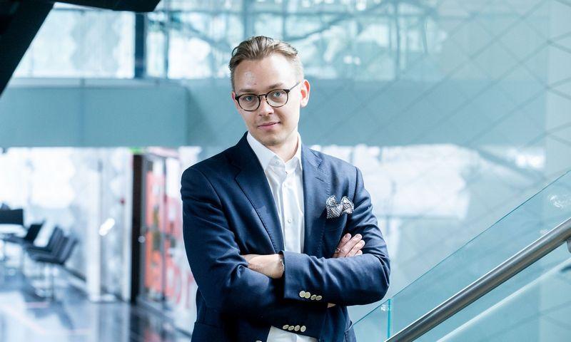 """Vytenis Šimkus, """"Swedbank"""" vyrenysis ekonomistas. Juditos Grigelytės (VŽ) nuotr."""