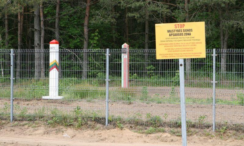 """Norviliskes. Valstybes siena su Baltarusija. Dariaus Mataičio (""""15min.""""/""""Scanpix"""") nuotr."""