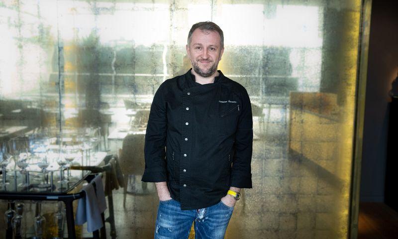 """Liutauras Čeprackas, virtuvės šefas, restoranų """"Gastronomika"""", """"Meat"""", """"Ramen"""" įkūrėjas. Vladimiro Ivanovo (VŽ) nuotr."""