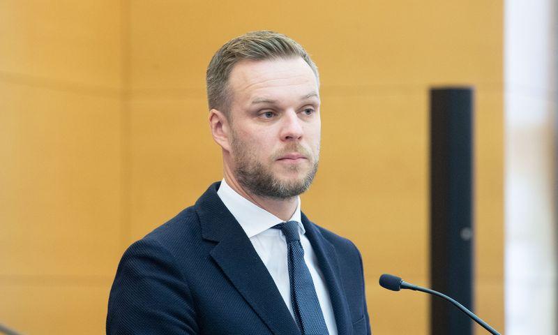 Gabrielius Landsbergis, Lietuvos užsienio reikalų ministras. Juditos Grigelytės (VŽ) nuotr.