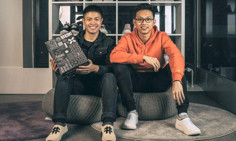 """Jesse Khan Tran ir Son Chu  startuolio """"Rens Original"""" įkūrėjai."""