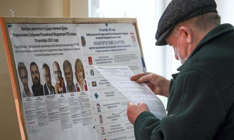 """Rinkimai Rusijoje, 2021 m. Sergei Savostyanov (TASS/""""Scanpix"""") nuotr."""