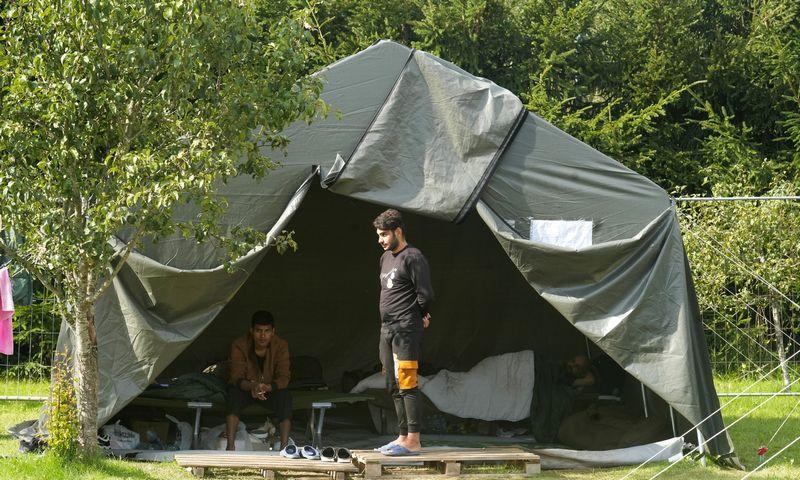 """Migrantų stovykla Medininkuose. Intso Kalninio (""""Reuters""""/""""Scanpix"""") nuotr."""