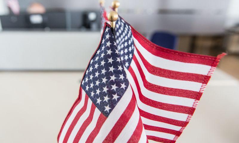 Jungtinių Amerikos valstijų vėliava. Juditos Grigelytės (VŽ) nuotr.