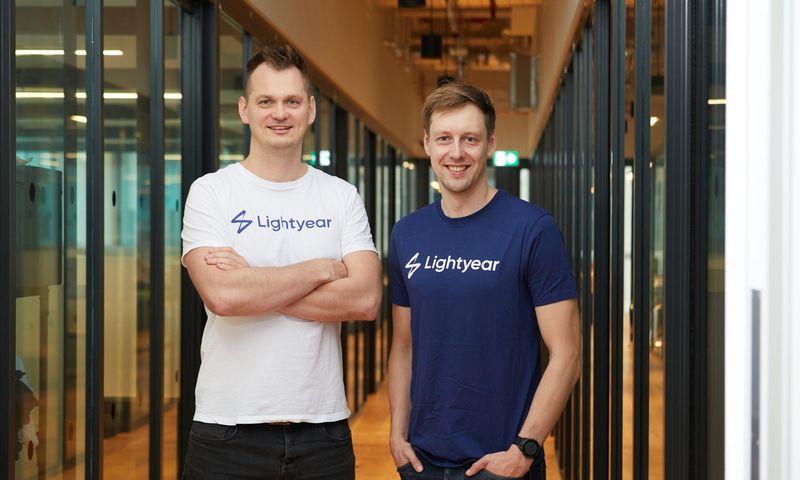 """Martinas Sokkas ir Mihkelis Aameras, startuolio """"Lihtyear"""" įkūrėjai.  Tomo Harrisono (bendrovės) nuotr."""