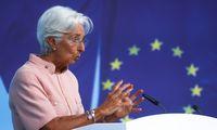 """Ch. Lagarde: galimo """"Evergrande"""" žlugimo poveikis euro zonai būtų """"ribotas"""""""
