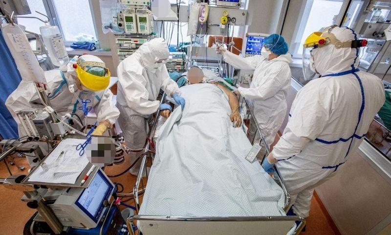 COVID-19 ligoniai Santaros klinikose. Vidmanto Balkūno (Santaros klinikų) nuotr.