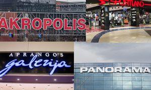 """Strateginiai partneriai išlaikopozicijascentruose""""Panorama"""" ir """"Akropolis"""""""