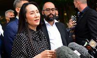 """Kanada po trejų metų paleido """"Huawei"""" įkūrėjo dukrą"""