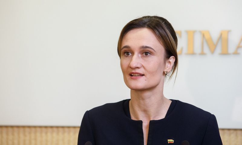 Seimo pirmininkė Viktorija Čmilytė-Nielsen.. Juditos Grigelytės (VŽ) nuotr.