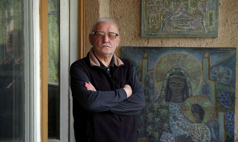 Dailininkas ir rašytojas Leonardas Gutauskas. Sauliaus Vasiliausko nuotr.