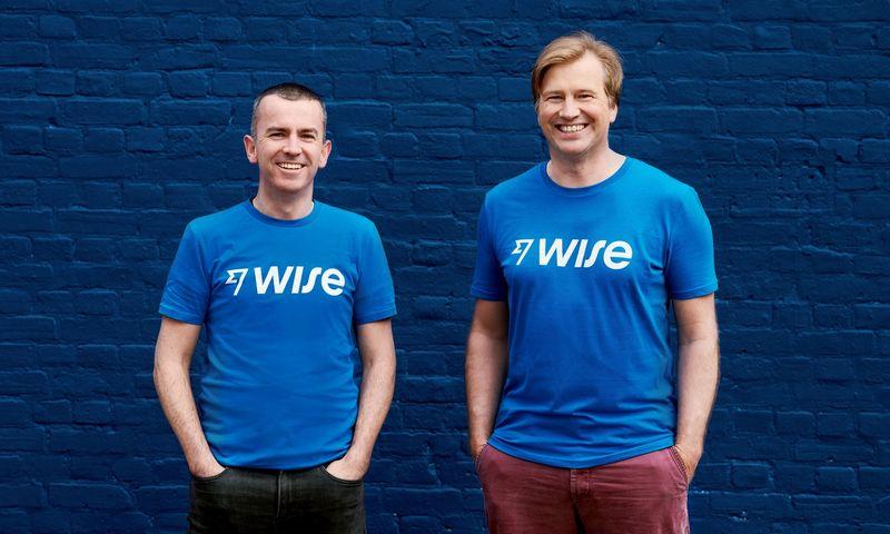"""Kristo Kaarmannas ir Mattas Briersas, estų pinigų perlaidų bendrovės """"Wise"""" įkūrėjai. Bendrovės nuotr."""