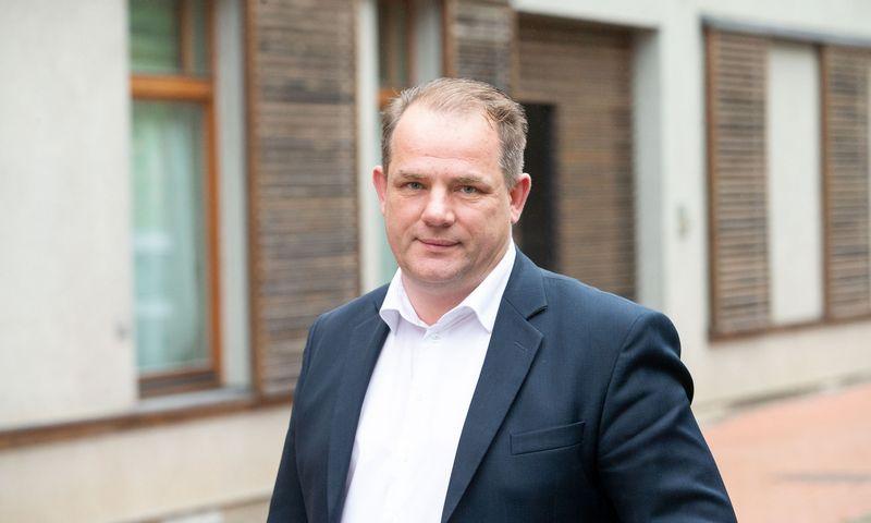 """Viktoras Račkovskis, UAB """"Centro kubas nekilnojamasis turtas"""" direktorius. Juditos Grigelytės (VŽ) nuotr."""