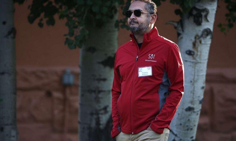 "Francis deSouza, bendrovės ""Illumina"" generalinis direktorius, Kevin Dietsch (Getty Images/AFP/""Scanpix"") nuotr."