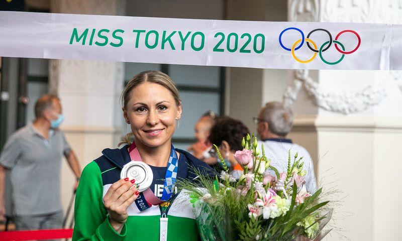 """Penkiakovininkė Laura Asadauskaitė-Zadneprovskienė, Tokijo olimpiados medalininkė. Juliaus Kalinsko (""""15min"""" / """"Scanpix"""") nuotr."""
