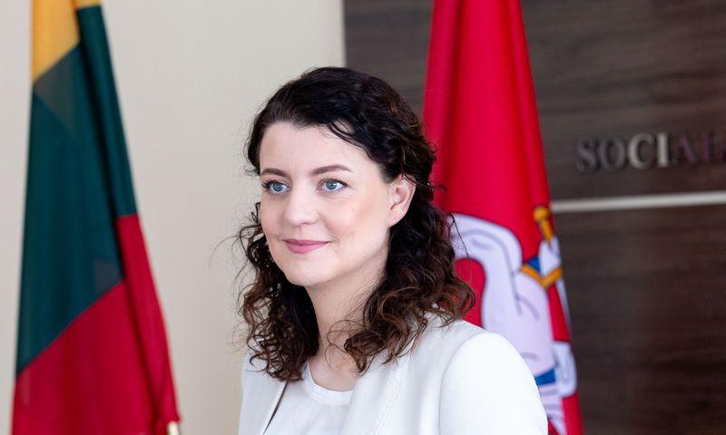 Monika Navickienė, socialinės apsaugos ir darbo ministrė. Juditos Grigelytės (VŽ) nuotr.