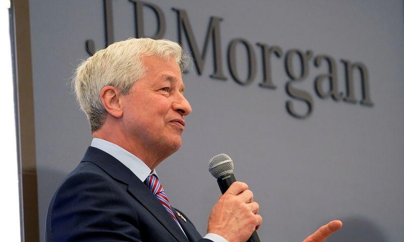 """JP Morgan"" CEO Jamie Dimonas.  Michel Euler (""Reuters"" / ""Scanpix"") nuotr."