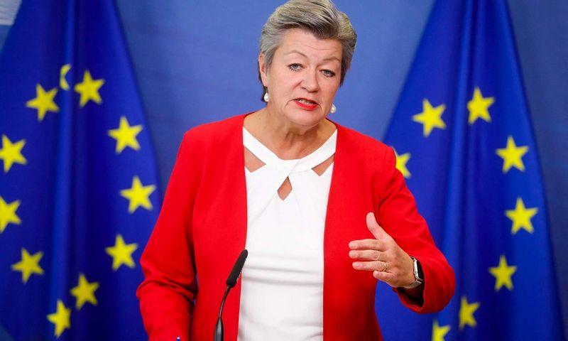 """Ylva Johansson, vidaus reikalų eurokomisarė. (AFP / """"Scanpix"""") nuotr."""