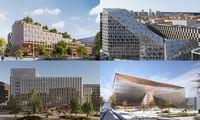 """Dar vieno """"Hanner"""" verslo centro sostinės Rinktinės g. architektūriniame konkurse – 4 idėjos"""