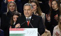 Budapešte V. Orbano mitinge dalyvavo dešimtys tūkstančių žmonių